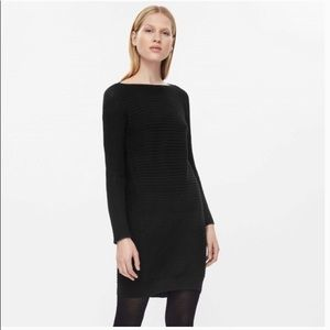 COS Navy 100% Wool Cocoon Dress Large